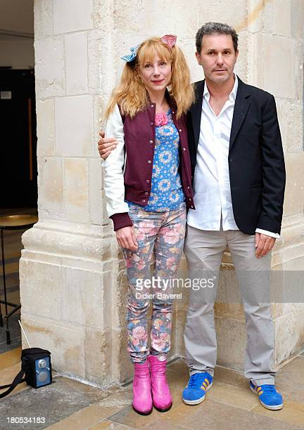 Julie Depardieu and Serge Hazavanicius pose during the photocall of 'La Famille Katz' at 15th Festival of TV Fiction on September 14 2013 in La...
