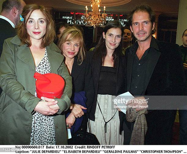 """Julie Depardieu """"Elisabeth Depardieu"""" """"Geraldine Pailhas"""" """"Christopher Thompson"""" """"Hysteria"""" preview and dinner at the Man Ray."""