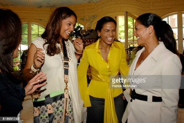 Julie Dines Tracey Wilson Morning Crystal McCrary Anthony and Rida Ewing attend LOUIS VUITTON Trunk Show benefiting FATE at Private Residence on May...