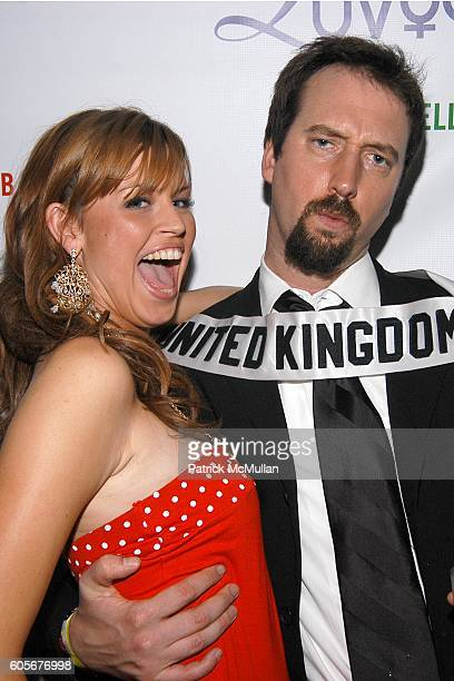 Julie Doherty Miss United Kingdom and Tom Green attend Miss Universe Post Pageant VIP Party hosted by Chuck Nabit Dave Geller Ed St John Greg...