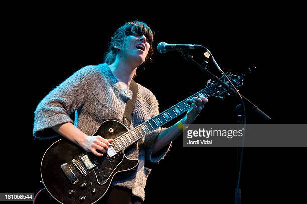 Julie Doiron performs on Day 2 at Tanned Tin Festival at Teatro Principal on February 8, 2013 in Castellon de la Plana, Spain.