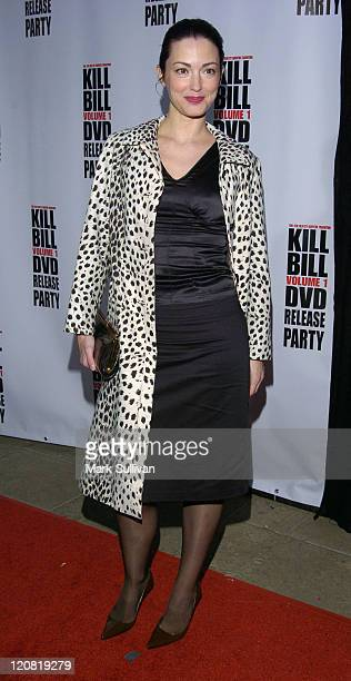Julie Dreyfus during Kill Bill Vol 1 DVD Release Party at The Playboy Mansion in Holmby Hills California United States
