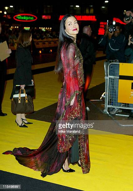 Julie Dreyfus during Kill Bill Vol 1 London Premiere Arrivals at The Odeon Leicester Square in London Great Britain