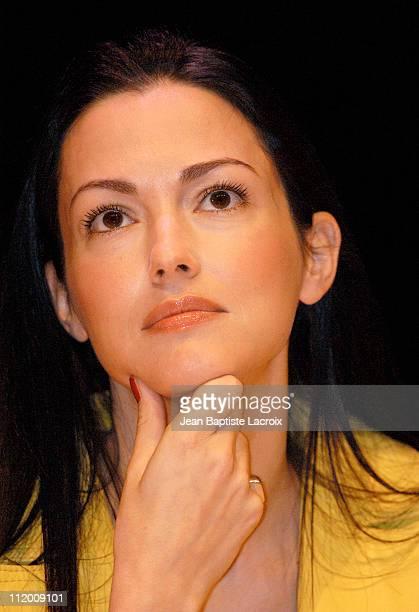 Julie Dreyfus during Kill Bill Vol 1 Press Conference in Paris at Forum des Images in Paris France