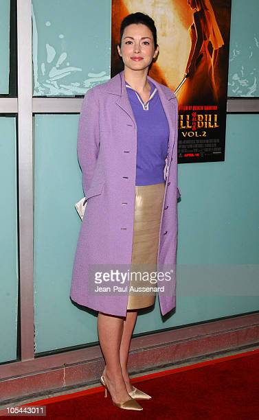 Julie Dreyfus during Kill Bill Vol 2 World Premiere Arrivals at ArcLight Cinerama Dome in Hollywood California United States