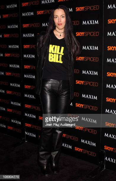 Julie Dreyfus during SKYY Vodka and Maxim Magazine Party hosted by Jessica Alba at Le Dome in Los Angeles California United States