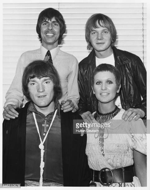 Julie Driscoll and the Brian Auger Trinity pose for a photograph at the Melody Maker Pop Poll Awards at the top of New Zealand House in London...