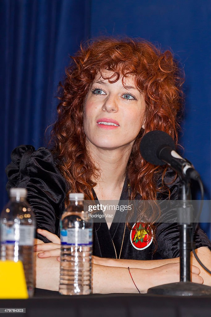 Julie Edwards of Deap Vally attends the Record Store Day LA Press Conference 2014 at Amoeba Music on March 20, 2014 in Hollywood, California.