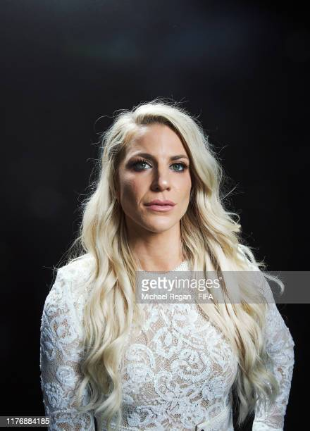 Julie Ertz of Chicago Redstars and United States poses for a portrait in the photo booth prior to The Best FIFA Football Awards 2019 at Excelsior...
