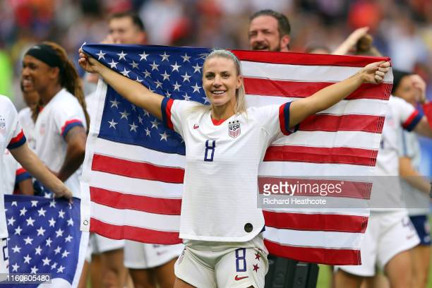 Julie Ertz of the USA celebrates following the 2019 FIFA Women's World Cup France Final match between The United States of America and The...