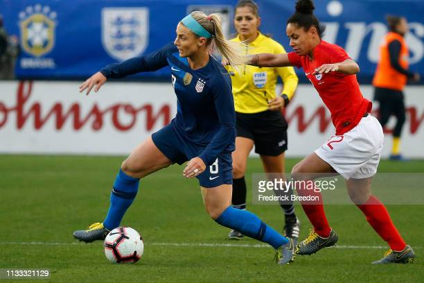 Julie Ertz of the USA plays in the 2019 SheBelieves Cup match between USA and England at Nissan Stadium on March 2 2019 in Nashville Tennessee