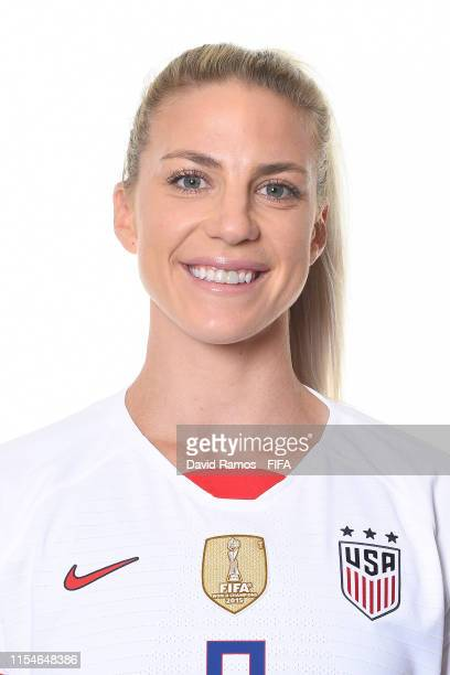 Julie Ertz of the USA poses for a portrait during the official FIFA Women's World Cup 2019 portrait session at Best Western Premier Hotel de la Paix...