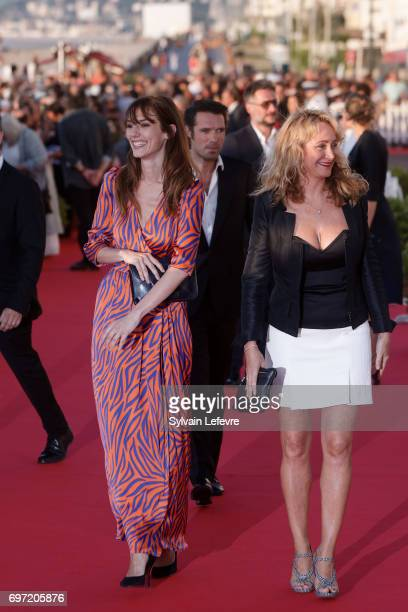 Julie Ferrier and Doria Tillier attend closing ceremony red carpet of 31st Cabourg Film Festival on June 17 2017 in Cabourg France