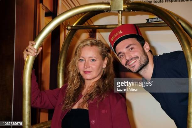 Julie Ferrier and Jerome Niel attend Les Emmerdeurs Groom Paris Premiere at Le Grand Rex on September 18 2018 in Paris France