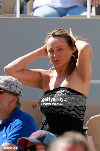 Julie Ferrier attend the 2019 French Tennis Open Day Seven at Roland Garros on June 01 2019 in Paris France