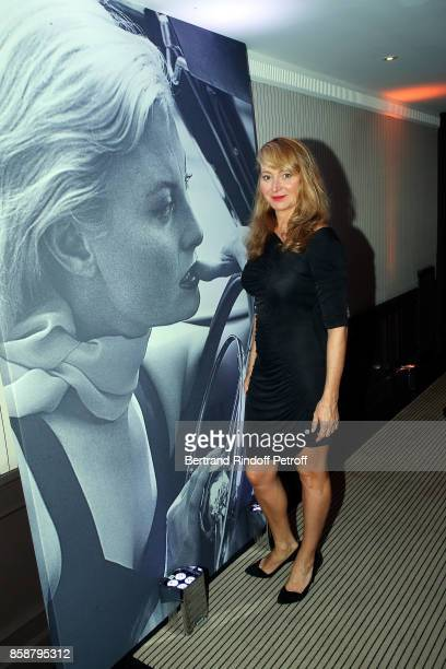 Julie Ferrier attends 'Suite Michele Morgan Opening' at Hotel Majestic Barriere on October 7 2017 in Cannes France