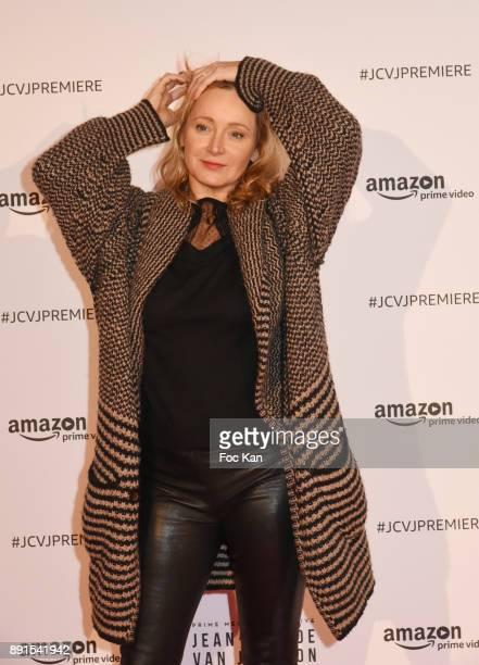 Julie Ferrier attends the Amazon TV Serie 'Jean Claude Van Jonhson' Paris Premiere At Le Grand Rex on December 12 2017 in Paris France