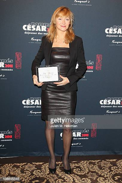 Julie Ferrier attends the Cesar 2011 Nominee Lunch at Restaurant Fouquet's on February 5 2011 in Paris France