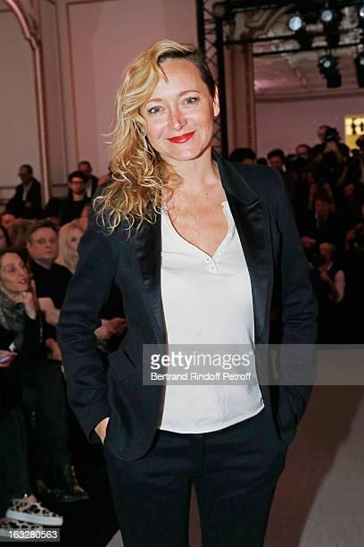 Julie Ferrier attends the Jitrois Fall/Winter 2013 ReadytoWear show as part of Paris Fashion Week on March 6 2013 in Paris France