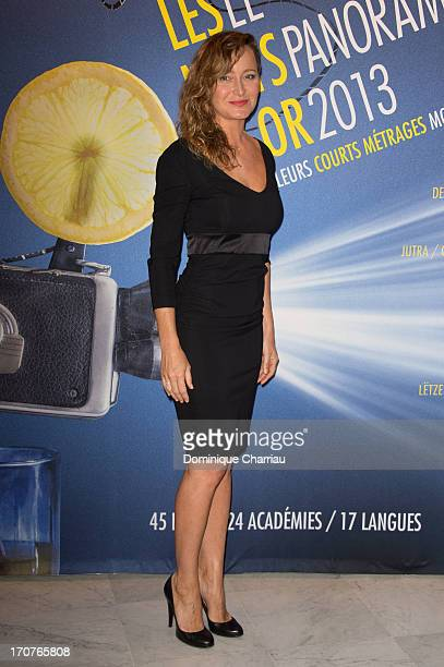 Julie Ferrier attends 'The Panorama 2013' photocall hosted by Academie des Cesar at UNESCO on June 17 2013 in Paris France