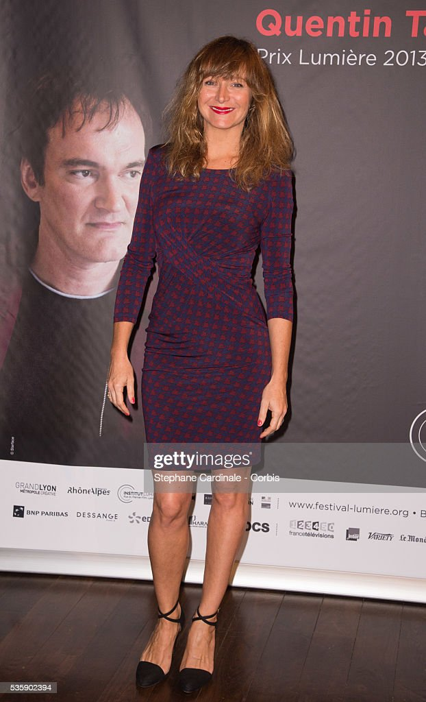 Julie Ferrier attends the Tribute to Quentin Tarantino, during the 5th Lumiere Film Festival, in Lyon.