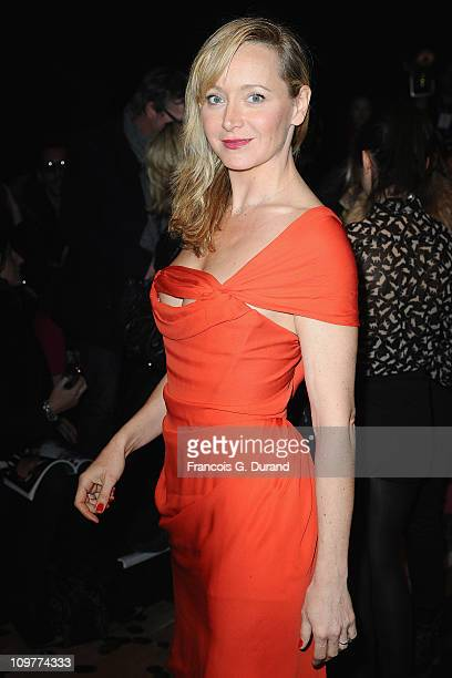 Julie Ferrier attends the Vivienne Westwood Ready to Wear Autumn/Winter 2011/2012 show during Paris Fashion Week at Pavillon Concorde on March 4 2011...