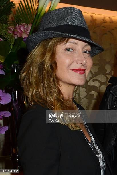 Julie Ferrier attends the 'White Party' at La Villa Maillot and SPA on June 25 2013 in Paris France