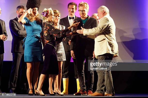 Julie Ferrier Florence Thomassin Victoria Bedos guest and David Blair attend closing ceremony of 27th Dinard British Film Festival on October 1 2016...
