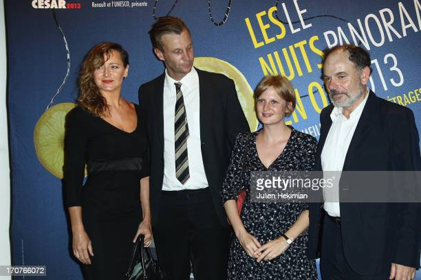 Julie Ferrier Johan Jonason Anna Novion and JeanPierre Daroussin attend 'The Panorama 2013' photocall hosted by Academie des Cesar at UNESCO on June...