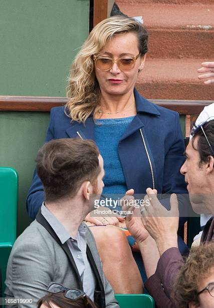 Julie Ferrier sightings at the French open 2013 at Roland Garros on June 2 2013 in Paris France