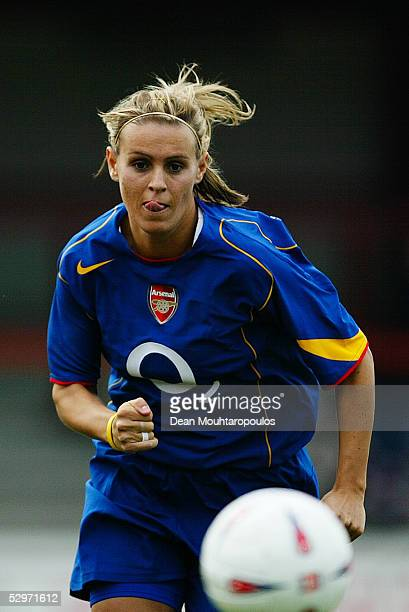 Julie Fleeting of Arsenal in action during the FA Nationwide Women's Premier League match between Charlton Women and Arsenal Ladies at Gravesend and...