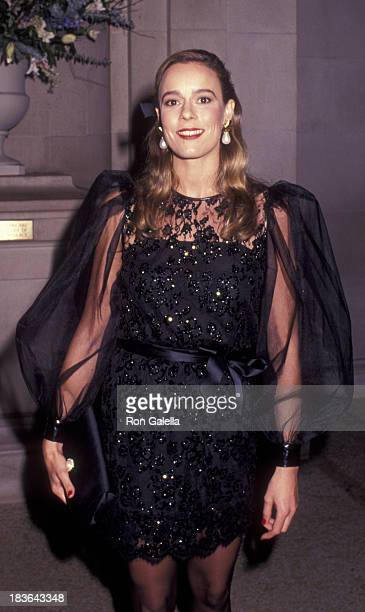 Julie Flesher attends Metropolitan Museum of Art Costume Institute Exhibition Opening on December 9 1991 at the Metropolitan Museum of Art in New...