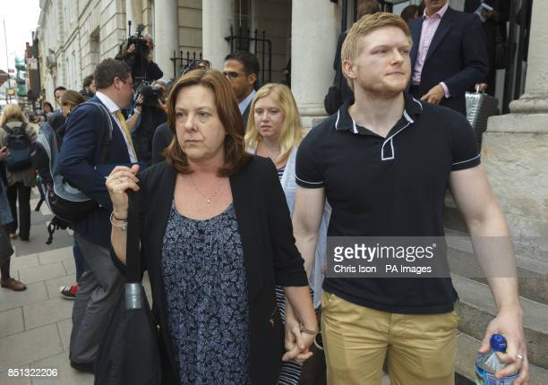 Julie Forrest mother of Jeremy Forrest with her son Tom and her daughter Carrie outside Lewes Crown Court in East Sussex after the sentencing of the...