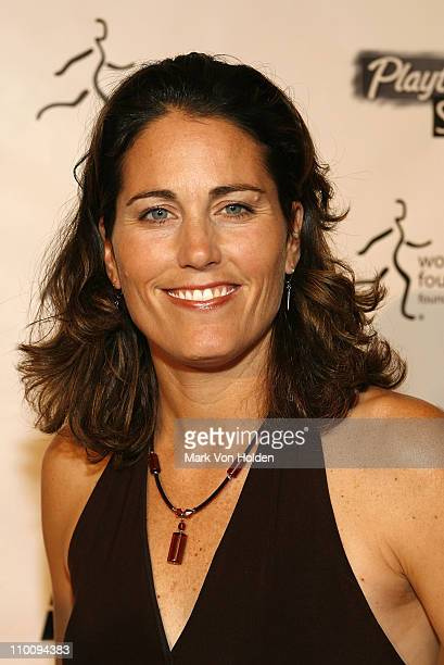 Julie Foudy arrives on the Playtex Sport Pink Carpet at The 28th Annual Salute to Women in Sports Awards Dinner on October 15 2007 at New York's...