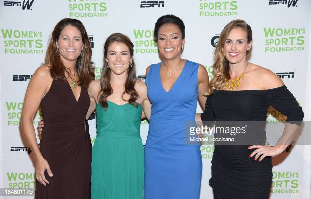 Julie Foudy Kelley O'Hara Angela Hucles and Heather Mitts attend the 34th annual Salute to Women In Sports Awards at Cipriani Wall Street on October...