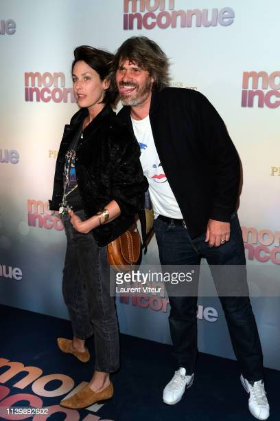 Julie Fournier and Benjamin Seznec attend Mon Inconnue Premiere at Cinema UGC Normandie on April 01 2019 in Paris France