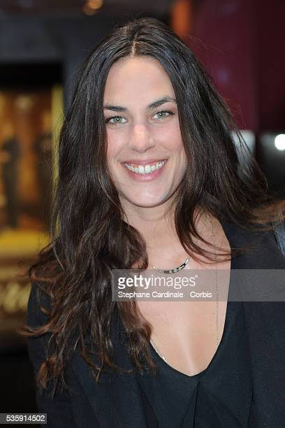 Julie Fournier attends the premiere of Amore in Paris