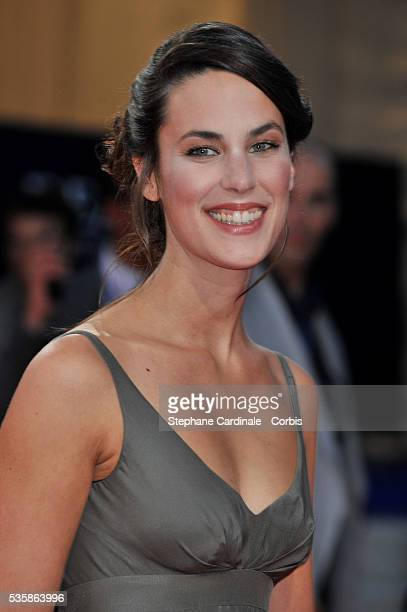 Julie Fournier attends the premiere of Recount at the 34th Deauville American Film Festival