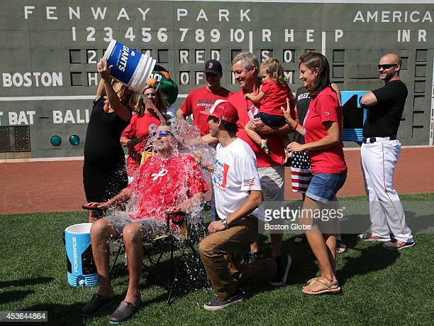 Julie Frates wife of Peter Frates former Boston College baseball captain who has ALS and is behind the ice bucket challenge that has gone viral dumps...