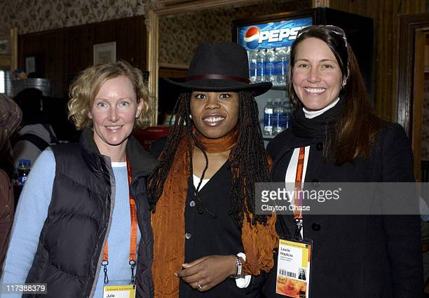 Julie Freestone Rahdi Taylor and Lauri Hopkins during 2007 Sundance Film Festival Filmmakers Lodge Opening Reception at Filmmakers Lodge in Park City...