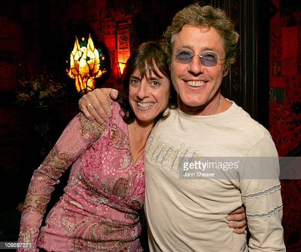 Julie Friedman and Roger Daltrey of The Who during Rock 'n Roll Fantasy Camp to Benefit the Teenage Cancer Trust - February 20, 2006 at House of...