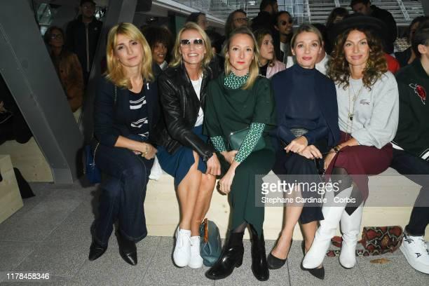 Julie Gayet Alexandra Lamy Audrey Lamy Anne Marivin and Aurelie Saada attend the Lacoste Womenswear Spring/Summer 2020 show as part of Paris Fashion...