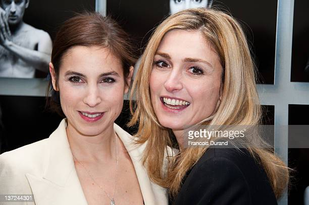 Julie Gayet and Anne Azoulay attend the Chaumet's Cocktail Party for Cesar's Revelations 2012 on January 16 2012 in Paris France