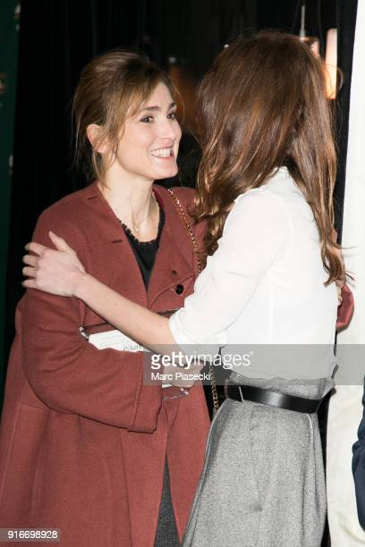 Julie Gayet and Doria Tillier attend the Cesar 2018 nominee luncheon at Le Fouquet's on February 10 2018 in Paris France