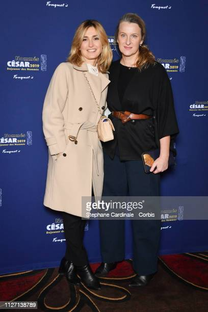 Julie Gayet and Nadia Turincev attend the Cesar 2019 Nominee Luncheon at Le Fouquet's on February 03 2019 in Paris France
