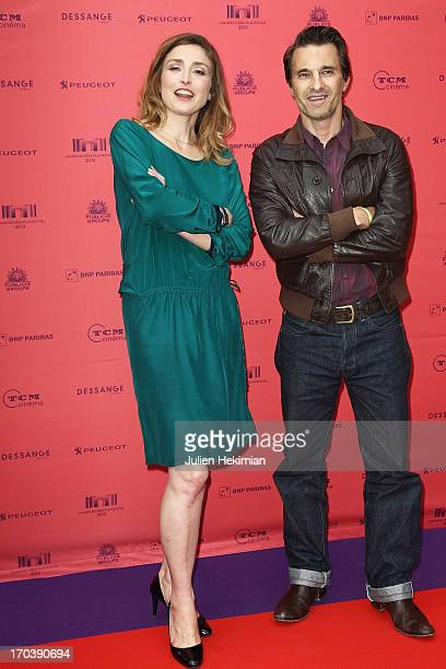 Julie Gayet and Olivier Martinez attend the 'Struck' Premiere As Part of The Champs Elysees Film Festival 2013 at Publicis Champs Elysees on June 12...