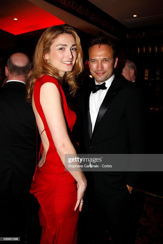 Julie Gayet and Vincent Perez at the Opening Dinner during the 63rd Cannes International Film Festival.