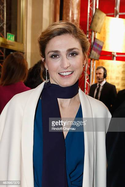 Julie Gayet arrives at the 40th Cesar Film Awards 2015 Cocktail at Theatre du Chatelet on February 20 2015 in Paris France