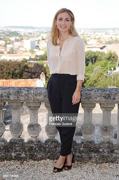 Julie Gayet attends a photocall during the 8th Angouleme FrenchSpeaking Film Festival on August 29 2015 in Angouleme France