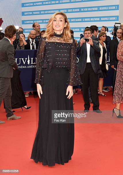 Julie Gayet attends the 'Infiltrator' Deauville Premiere as part of 42nd Deauville American Film Festival Opening Ceremony at the CID on September 2...